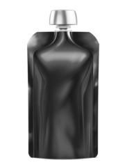 Black Blank Doy-pack, Doypack Foil Food Or Drink Bag Packaging