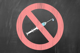Say no to drugs concept. poster