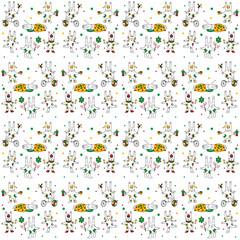White hares pattern