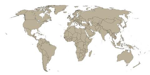 Carte du monde vectorielle