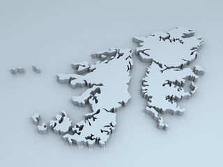 falkland islands 3D map
