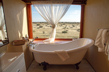 Bathroon in a african lodge