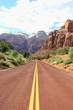 Canyon road mountains