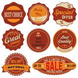 Vintage Sale Stickers 02