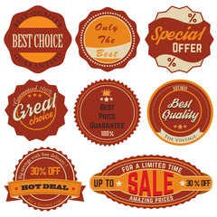 Vintage Sale Stickers 02