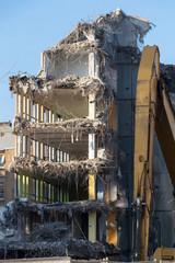 Démolition de vieux logements