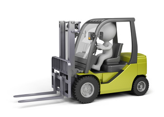 Man on the forklift truck