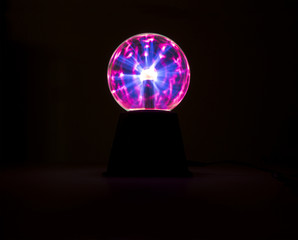 electric spark on plasma ball