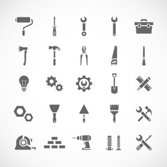 Set of 25 tool icons. Vector illustration eps8