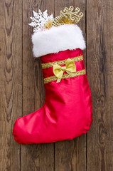 Christmas sock with gifts