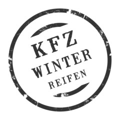 sk330 - KFZ-Stempel - Kfz Winterreifen kfz91 g2818
