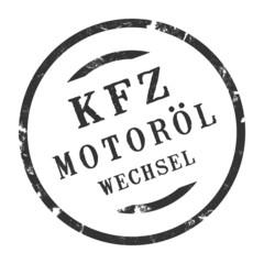 sk332 - KFZ-Stempel - Kfz Motorölwechsel kfz93 g2820