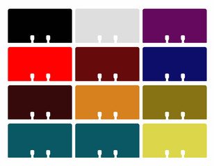 Rolodex cards vector in various colours