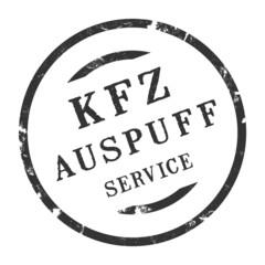 sk334 - KFZ-Stempel - Kfz Auspuffservice kfz95 g2822