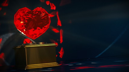 Ruby Heart  Award -  loopable motion background.