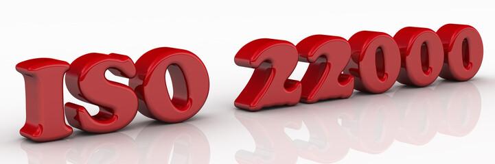 ISO 22000. Красная надпись