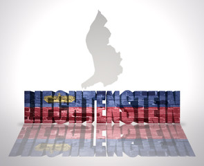 Word Liechtenstein on a map background