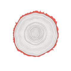 vector cut of a tree