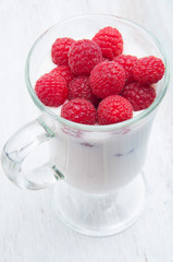 Healthy breakfast with yogurt and berry