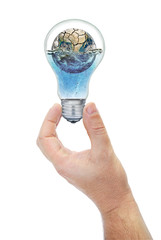 Land submerged in the bulb keeps hand.