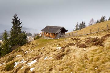Jagdhütte in den Alpen