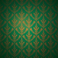 Celtic baroque background green