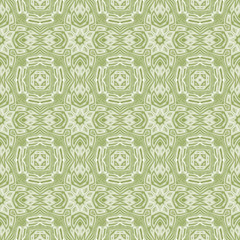 Seamless kaleidoscopic pattern in pale green