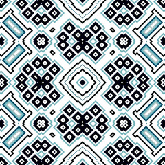 Seamless geometric pattern with squares and rectangles