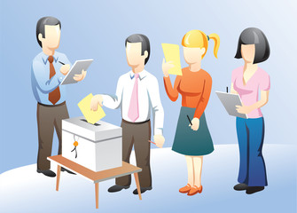 office people voting on elections