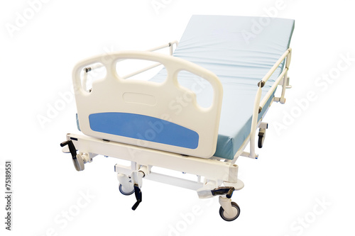 mobile medical bed isolated - 75189551