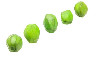 Pickled mango fruit over white background