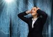 Businesswoman facing problems