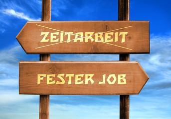 Strassenschild 29 - Fester Job