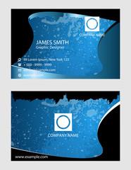 Cool waved business card set