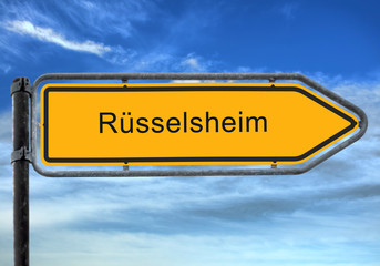 Strassenschild 26 - Rüsselsheim