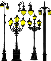 decorated street lanterns collection
