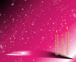 Happy Birthday pink Background
