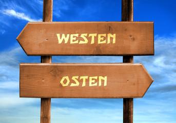 Strassenschild 29 - Westen Osten