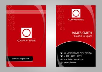 Modern simple business card vector template