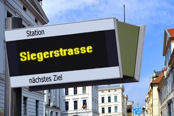 Strassenschild 27 - Siegerstrasse