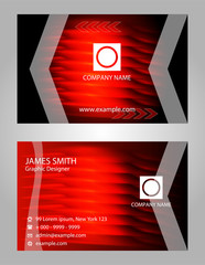Modern vector business card - red and black colors
