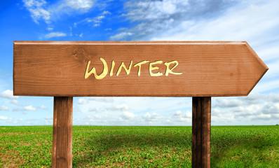Strassenschild 30 - Winter