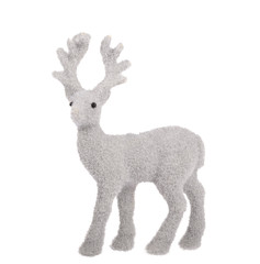 grey deer toy isolated on white