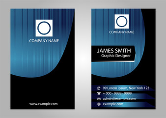 Premium business Card Set. Vector illustration template