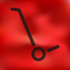 trolley icon on blurred background
