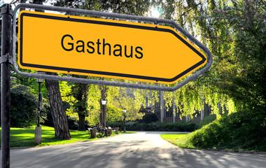 Strassenschild 25 - Gasthaus