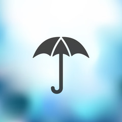 umbrella icon on blurred background