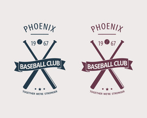 Phoenix Baseball Club emblem vector illustration, eps10