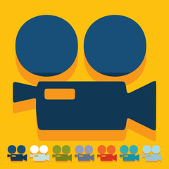 Flat design: movie camera