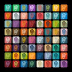 Flat design: fingerprint